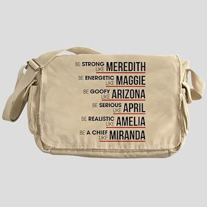 Be Strong Like Meredith Messenger Bag