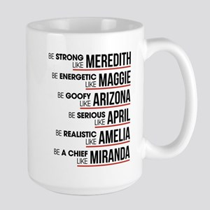 Be Strong Like Meredith 15 oz Ceramic Large Mug