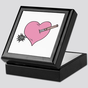 Heart With Mace Keepsake Box