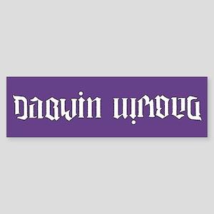 Darwin is wrong Sticker (Bumper)