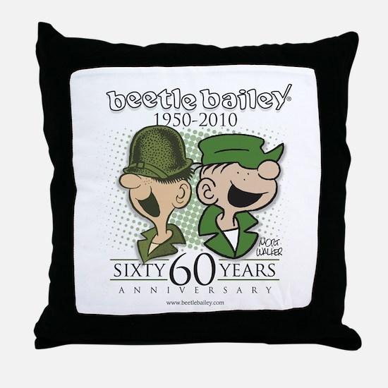 60th Anniversary Throw Pillow