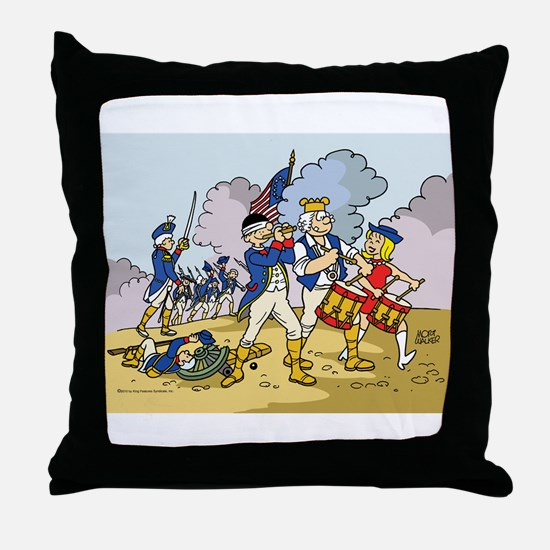 Revolutionary Beetle Throw Pillow