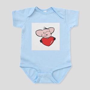 Pig Valentine/Heart Infant Creeper