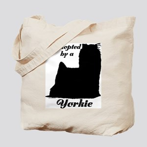 ADOPTED by a Yorkie Tote Bag
