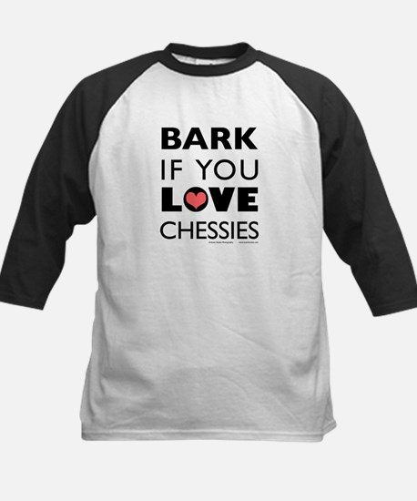 Bark if You Love Chessies Kids Baseball Jersey