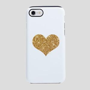 glitter-heart_0006_gold iPhone 7 Tough Case