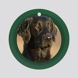 Flat-Coated Retriever Green Round Ornament