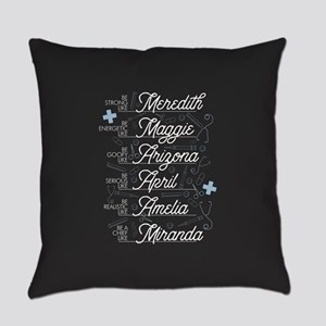 Be Strong, Energetic, Goofy, Serio Everyday Pillow