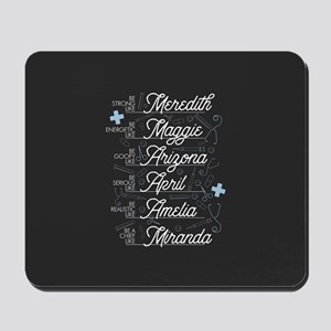 Be Strong, Energetic, Goofy, Serious & R Mousepad