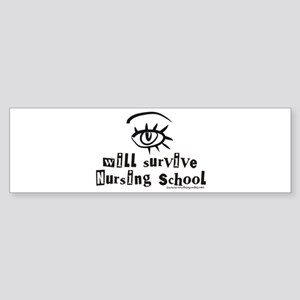 Survive Nursing School Sticker (Bumper)