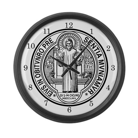 Large St. Benedict Exorcism Wall Clock