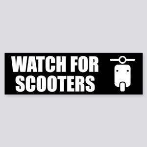 Watch For Scooters Sticker (Bumper)