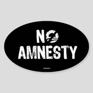 No Amnesty Sticker (Oval)