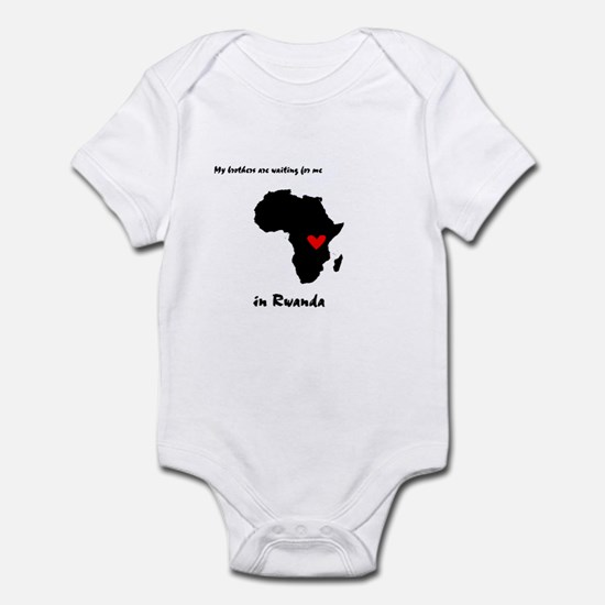 My brothers are waiting Infant Bodysuit