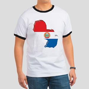 3D Paraguay Map Ringer T