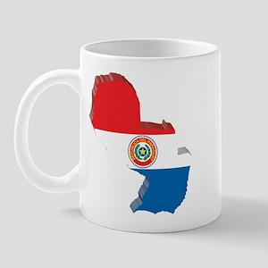 3D Paraguay Map Mug