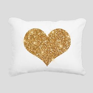 glitter-heart_0006_gold. Rectangular Canvas Pillow