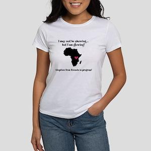 Not showing, glowing Rwanda Women's T-Shirt