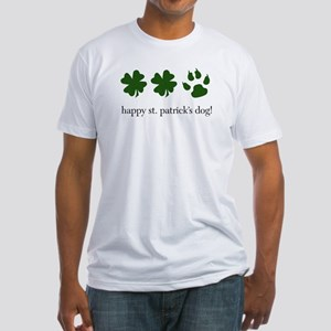 happy st. patrick's dog! Fitted T-Shirt