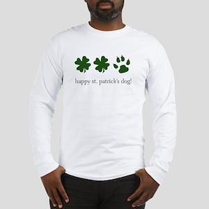 happy st. patrick's dog! Long Sleeve T-Shirt