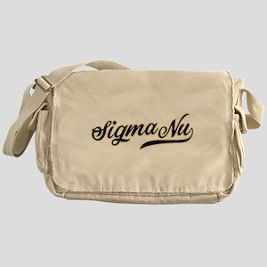 Sigma Nu Script Messenger Bag