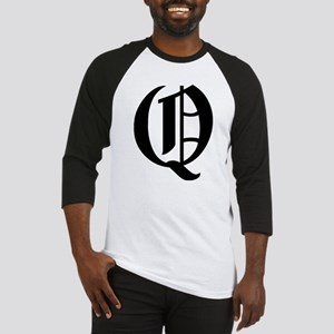 """Letter """"Q"""" (Gothic Initial) Baseball Jersey"""