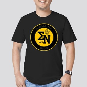Sigma Nu Badge Men's Fitted T-Shirt (dark)