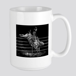 Wild Bull Rider on Large Mug