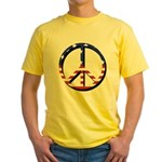 Unhappy Peace - Inspired by Radiohead Yellow T-Shi