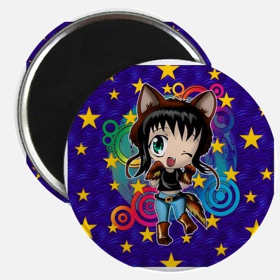 Cute Anime wolves Magnet