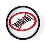 No Wasta Wall Clock