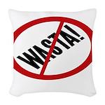 No Wasta Woven Throw Pillow