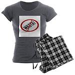 No Wasta Women's Charcoal Pajamas