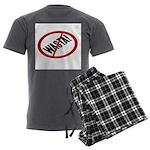 No Wasta Men's Charcoal Pajamas
