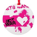 LoveWarB Round Ornament