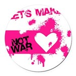 LoveWarB Round Car Magnet