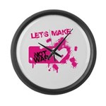 LoveWarB Large Wall Clock