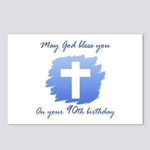 Christian 90th Birthday Postcards (Package of 8)