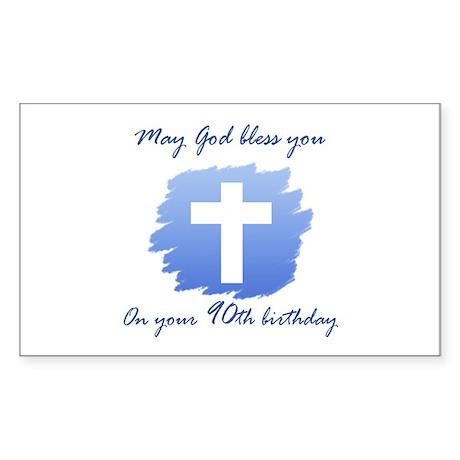 Christian 90th Birthday Sticker (Rectangle)