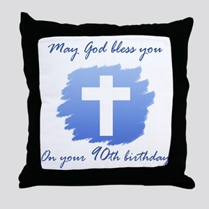 Christian 90th Birthday Throw Pillow