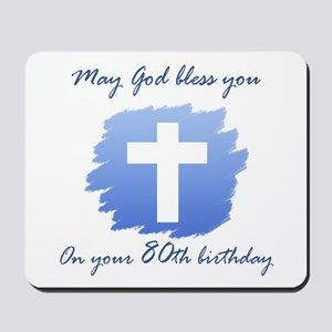Christian 80th Birthday Mousepad