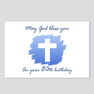 Christian 80th Birthday Postcards (Package of 8)