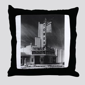 Tower Theatre Throw Pillow