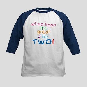 Whoo Hooo 2nd Birthday Kids Baseball Jersey