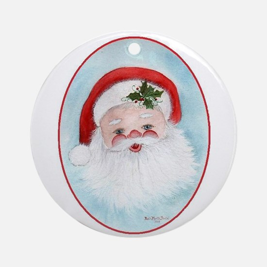 Whimsical Santa Ornament (Round)