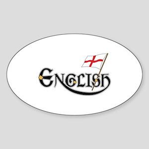 English Ladies Sticker (Oval)