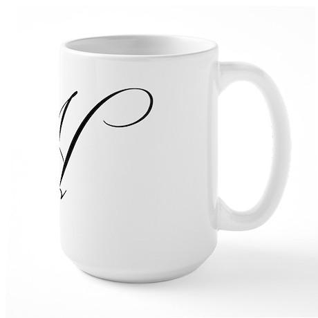 "Letter ""H"" (Cursive Initial) Large Mug"