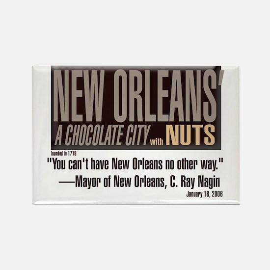 NOLA: A Chocolate City Rectangle Magnet