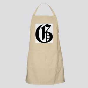 """Letter """"G"""" (Gothic Initial) BBQ Apron"""
