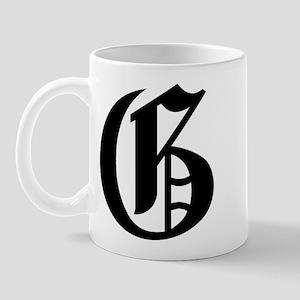 "Letter ""G"" (Gothic Initial) Mug"